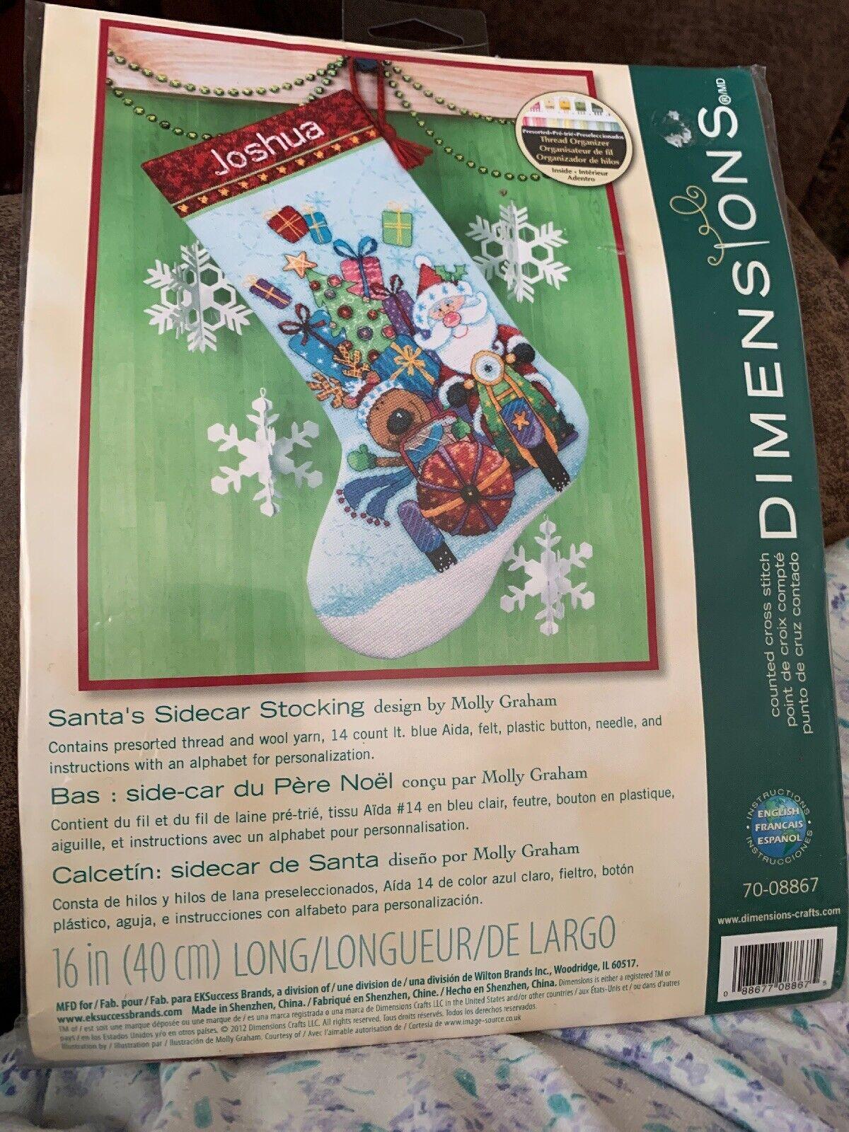 Santa/'s Sidecar Stocking Cross Stitch Kit