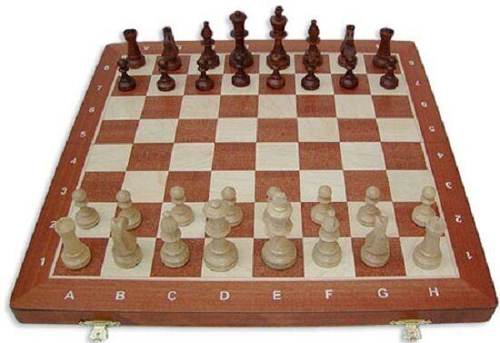 Schach Turnier - Schachspiel Staunton Nr. 5 Holz Neu