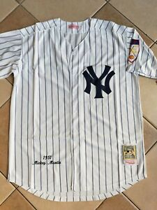 NWT-Men-039-s-NY-Yankees-Mickey-Mantle-Authentic-Mitchell-amp-Ness-Throwback-L