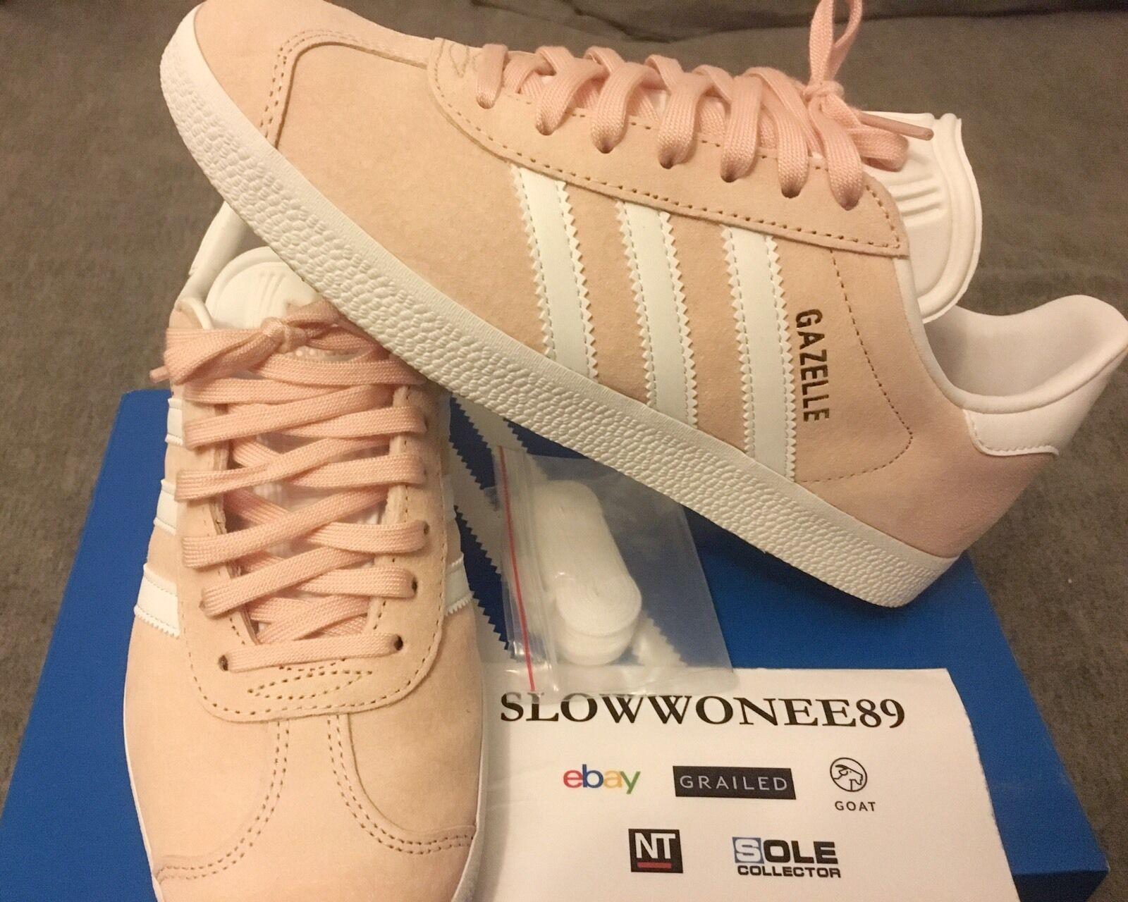 Adidas 6 Originals Gazelle tamaño nos 6 Adidas para hombre vapor Rosa bb5472 salmón Oro Blanco cd66ca