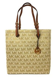 d8a12c27f4 Image is loading Michael-Kors-Jet-Set-North-South-Tote-in-
