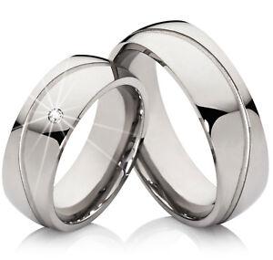 2 Edelstahl Verlobungsringe Partnerringe Trauringe Freundschaftsringe Eheringe