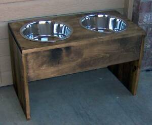 Details About New 12 Wood Elevated Pet Dog Feeder Inch Raised 3 Quart Bowl Stainless Steel