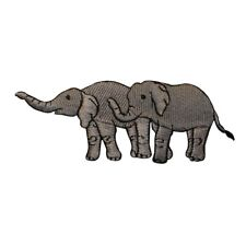 Elephants Embroidered Iron On Applique Patch I0111