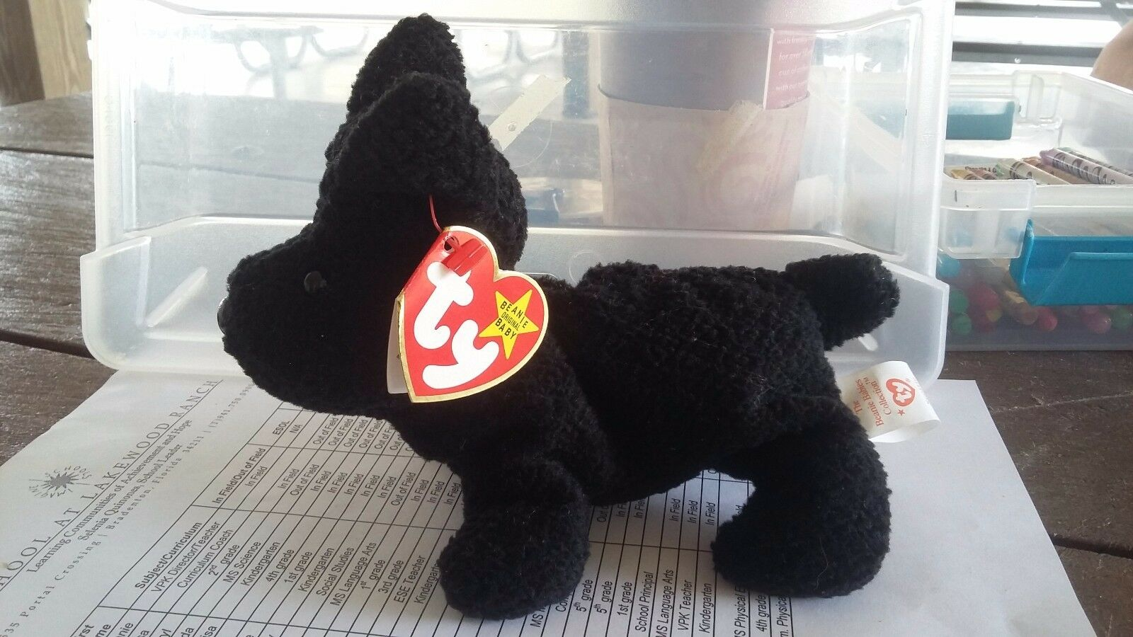 NEW TY VERY RARE & RETIRED BEANIE BABY BABIES SCOTTIE THE TERRIER.