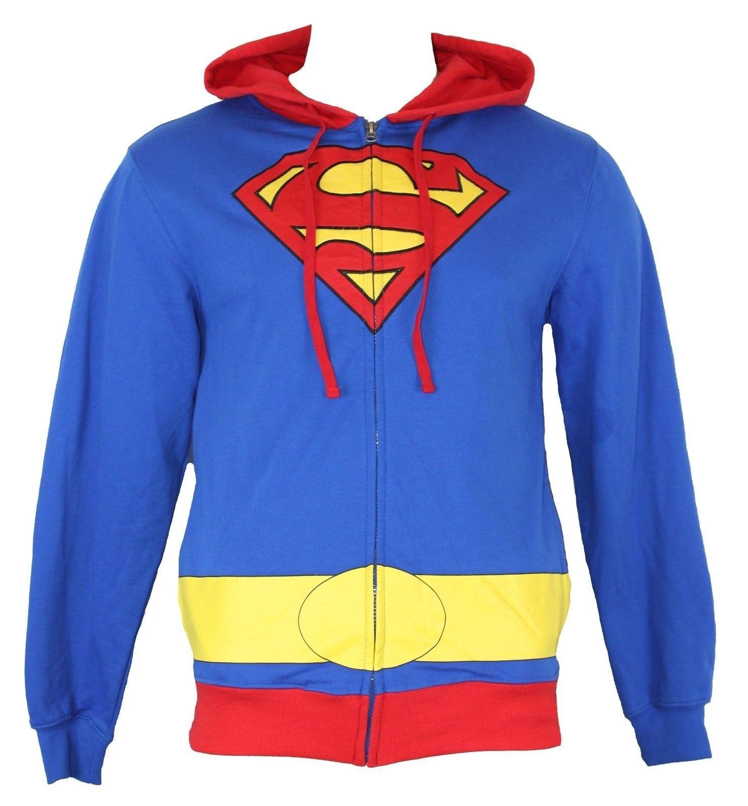 Superman Uomo Hoodie & Sweatshirt - Classic rosso blu & Hoodie giallo Costume Front Image ca4996