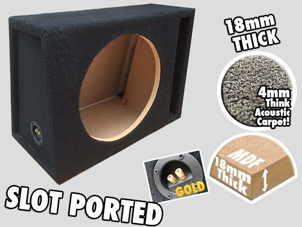 "NORMAL SLOT PORTED 15"" SUBWOOFER ENCLOSURE BASS SLOT PORT BOX SUBS"
