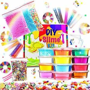 DIY-Fluffy-Slime-Kit-Crystal-Slime-Set-for-Girls-Boys-Toys-Kids-Art-Craft