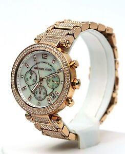 7d633df56d72 Michael Kors Women s Parker Pavé Rose Gold-Tone Watch MK6514