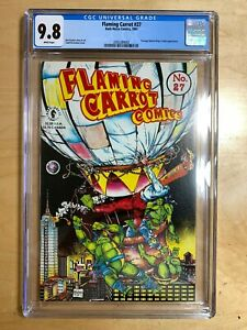 Flaming-Carrot-27-CGC-9-8-White-Pages-McFarlane-Cover-TMNT-Brand-New-Slab