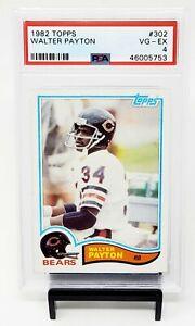 1982-Topps-HOF-Chicago-Bears-WALTER-PAYTON-Vintage-Football-Card-PSA-4-VG-EX