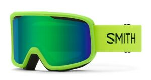 Smith-Frontier-Snow-Goggles-Limelight-Frame-Green-Sol-X-Mirror-Lens-New-2021
