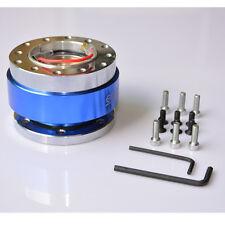 Universal Car Blue Steering Wheel Quick Release Hub Adapter Snap Off Boss Kit