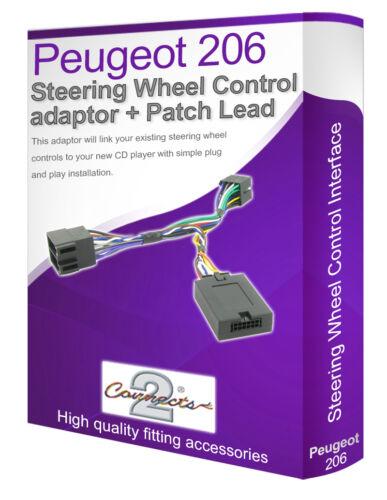 PEUGEOT 206 voiture stéréo plomb adaptateur Connectez votre Volant tige contrôle