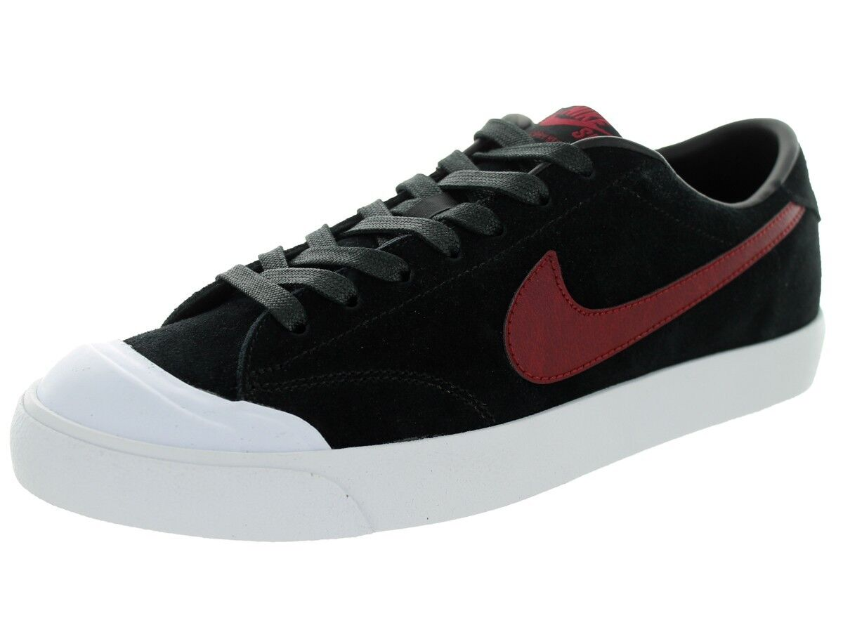 Nike ZOOM ALL COURT CK Black Team Red White Skate Discounted Price reduction Men's Shoes Cheap women's shoes women's shoes