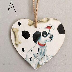 Disney-101-Dalmatians-Wooden-Hanging-Heart-Christmas-Tree-Decoration-Decoupaged