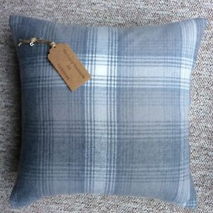 Four-New-16-x16-cushion-covers-made-in-Next-Cozy-grey-woven-checked-fabric-zip