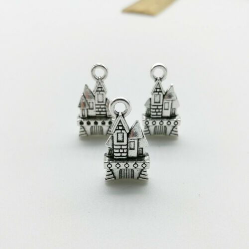 20pcs Retro castle tibet silver charms pendants DIY Jewelry accs 21x11mm