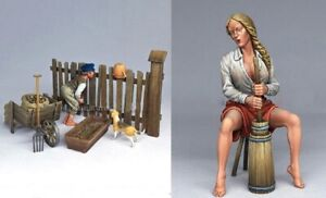 1-35-Resin-Country-Boy-amp-Lady-W-Accessories-Unpainted-Unassembled-BL650
