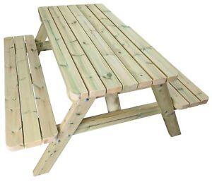 Wondrous Details About Premium Wooden Picnic Table Commercial Pub Bench Garden Picnic Table Bench Machost Co Dining Chair Design Ideas Machostcouk