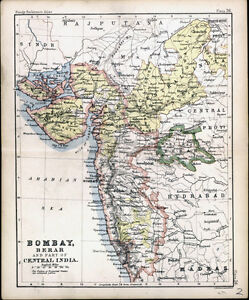 1890-Bartholomew-Antique-Map-of-Nort-West-India-Bombay