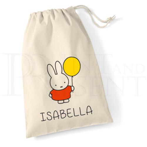 Personalised Miffy Drawstring Bag