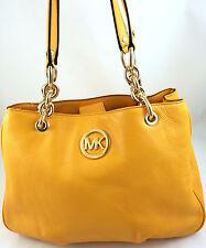 New Michael Kors Fulton Medium Chain Tote Bag Purse Handbag Vintage Yellow
