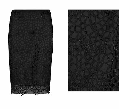 Marks /& Spencer Per Una Pure Cotton Crochet Lace Skirt ex M/&S Skirt