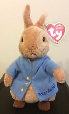 Ty PETER RABBIT Beanie Baby - BEATRIX POTTER - MINT w/ MINT TAGS - UK EXCLUSIVE