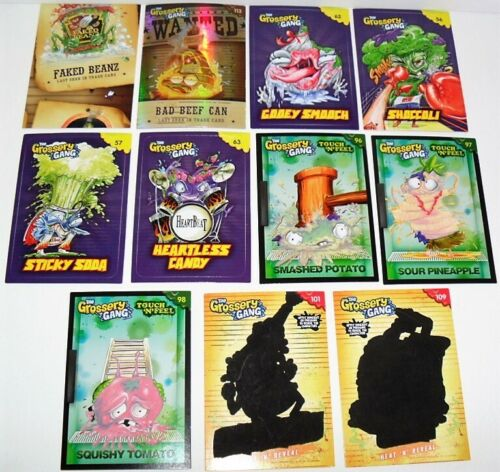 GROSSERY GANG COLLECTORS CARDS CHASE MIXED LOT OF CARDS JUST AS PICTURED #A 11