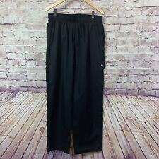 Chef Works Mens Black Chef Baggy Elastic Waist Work Pants Size Xl