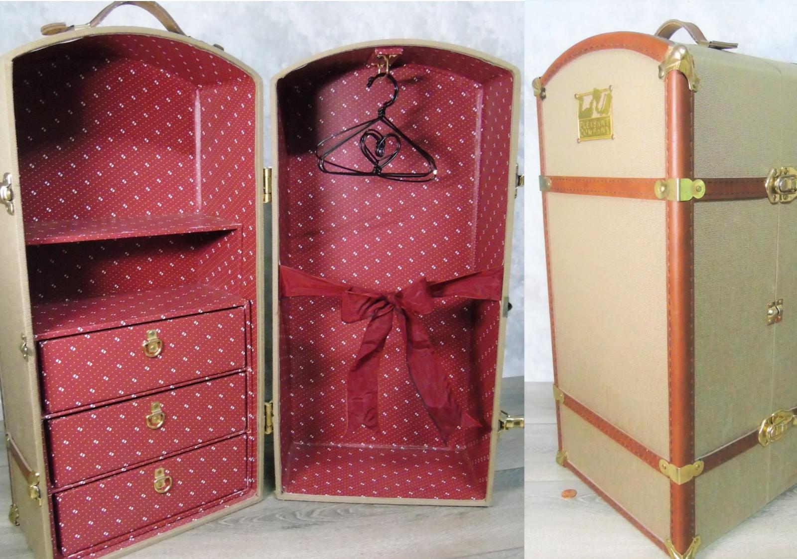 American Girl Pleasant Company Samantha Puppe Dämpfer Koffer Wardrobe Closet