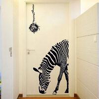 Zebra Bird Nest Print Mural Art Decal Wall Sticker Removable Home Room Decor