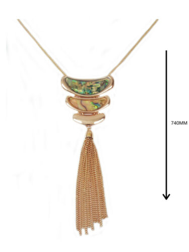 Para Mujer Joyas Cadena Collar Largo De Moda Amor Corazón De Oro Rosa Nuevo