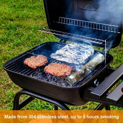 12inch Pellet Grill Smoker Tube BBQ Wood Pellet Cold Smoking Box Grilling Meat