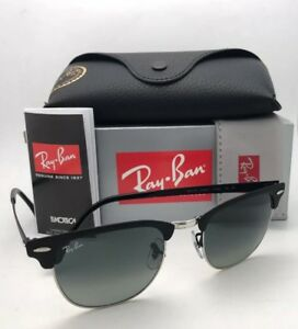 46857b7a3d RAY-BAN Sunglasses CLUBMASTER METAL RB 3716 9118/71 51-21 Black ...