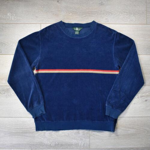 Vintage 70s JC Penny Hunt Club Velour Sweater - L… - image 1