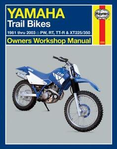 haynes workshop service repair manual book yamaha tt r225 tt r250 rh ebay com au
