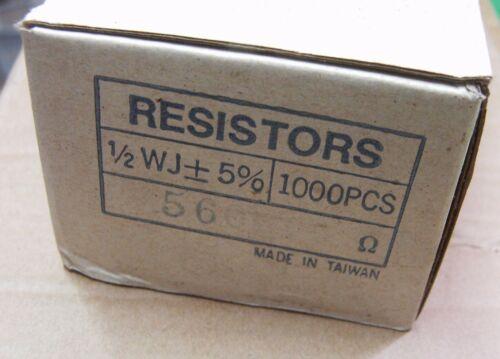 200 560r 0.5w Carbon Film RESISTENZE 560 ohm 1//2w 561