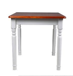 Esstisch Küchentisch Tisch Massiv Kiefer Weiß Honig ...