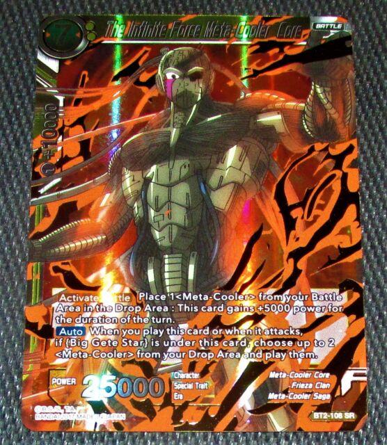The Infinite Force Meta-Cooler Core BT2-108 SR Dragon Ball Super TCG NEAR MINT