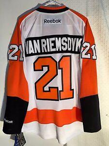 official photos 2e8bc c9f04 Details about Reebok Premier NHL Jersey PHILADELPHIA Flyers James Van  Riemsdyk White sz XL