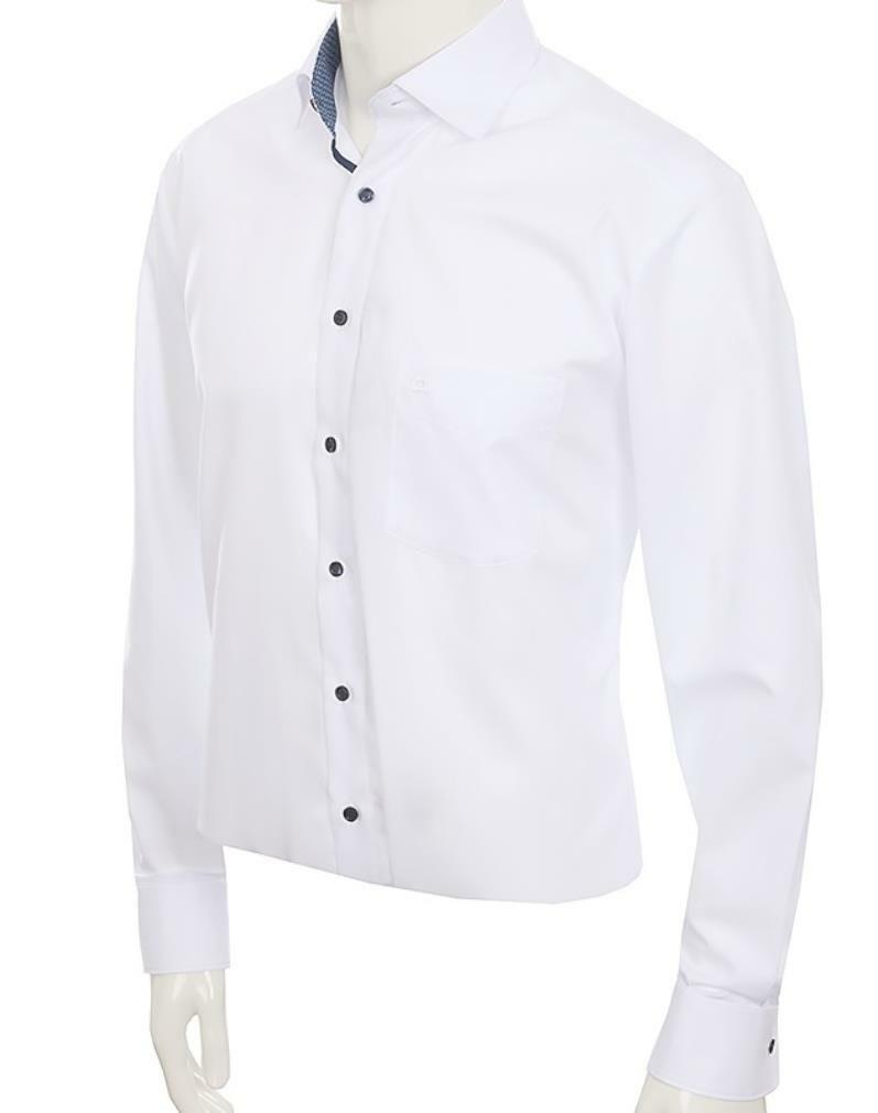 White Contrast Spread Collar