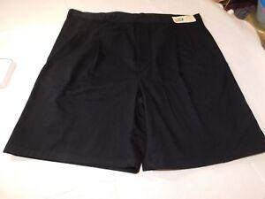Adventure Bound Clipper Pleated Cotton Short Mens Shorts Black casual 42