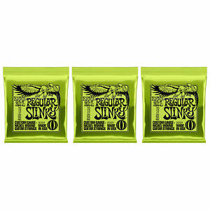 3 Sets Ernie Ball 2221 Nickel Regular Slinky Electric Guitar Strings Pack 10-46