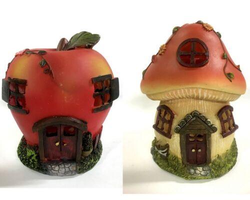 NEW 17cm Solar Fairy Garden Fairy Garden Ornaments Home Decor Mushroom Apple