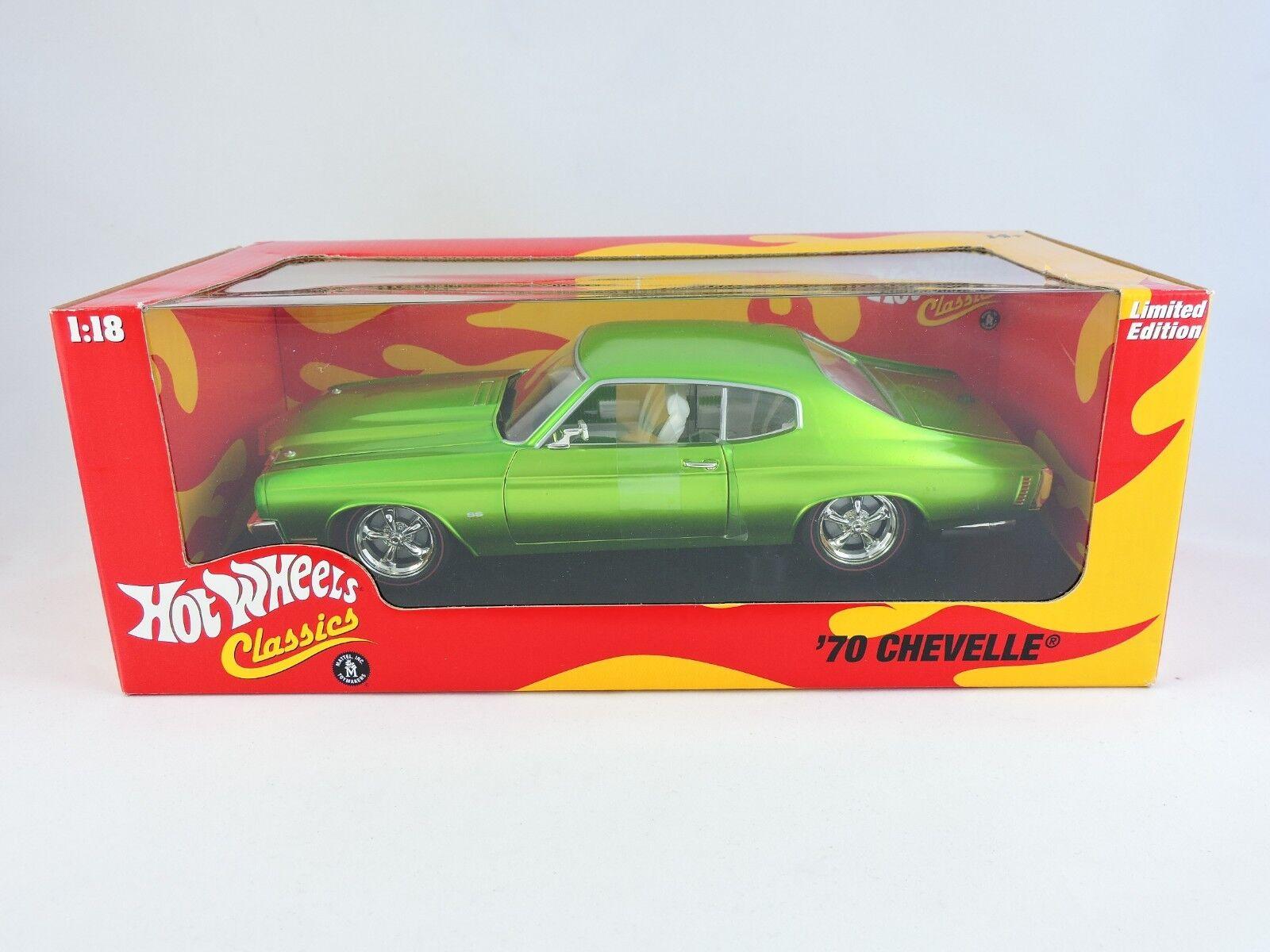 varm Hklackar Classics 70 Chevelle 1 18 Metallic grön bil 1970 Chevy Ltd Edition
