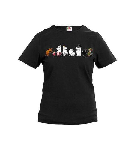 Moomin T-Shirt Nero Donna Famiglia