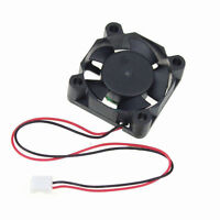Black 12V 30mm x 30mm x 10mm 3010 DC Brushless Cooling Fan 2 Pin Connector New