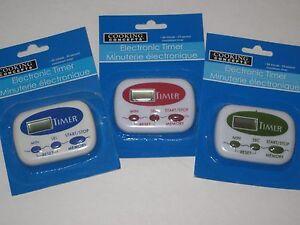 Electronic kitchen timer easy to set boil eggs baking for Electronic kitchen set